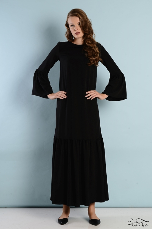 Nevena Siyah Elbise
