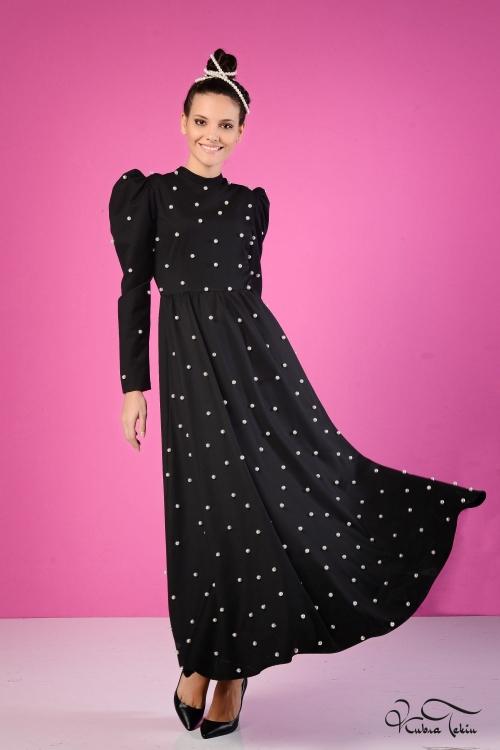 Prenses Siyah İnci Elbise