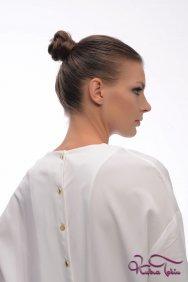 Zahra Beyaz Tunik