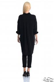 Scarlett İşlemeli Siyah Gömlek