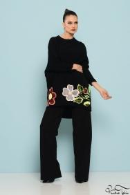 Zola Siyah Floral Tunik