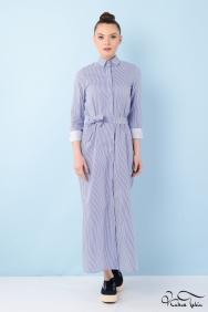 Jessica Coton Mavi Çizgili Gömlek