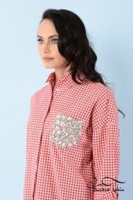 Scarlett Coton Kırmızı Gömlek