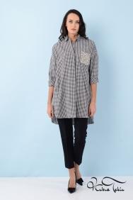 Scarlett Coton Siyah Kareli Gömlek