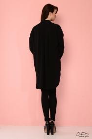 Scarlett Renkli Cep Siyah Gömlek