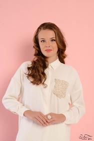 Scarlett Krem İnci Gömlek