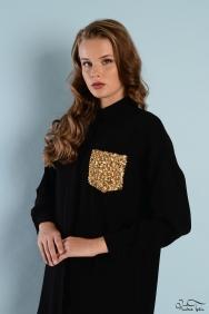 Scarlett Siyah Altın Cep Gömlek