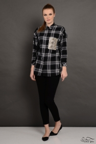 Siyah Kareli Gömlek