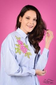 Scarlett Mavi Omuz Detaylı Gömlek