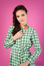 Jessica Coton Yeşil Kareli Gömlek