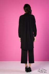 Scarlett Siyah Nakış İşlemeli Gömlek