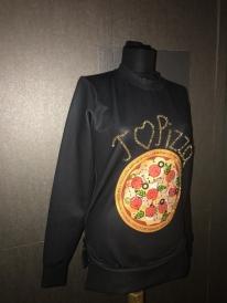 Pizza İşlemeli Sweatshirt