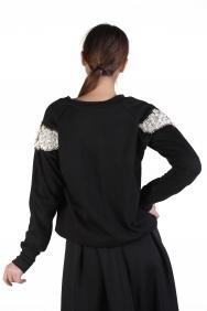 İnci İşlemeli Sweatshirt