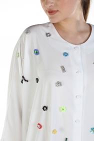 Y İşlemeli Gömlek