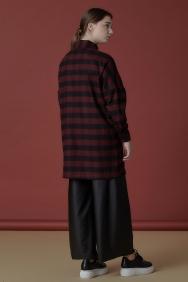 Bordo Oduncu Gömleği