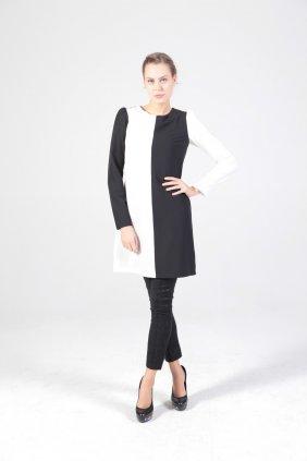 Siyah Beyaz Tunik