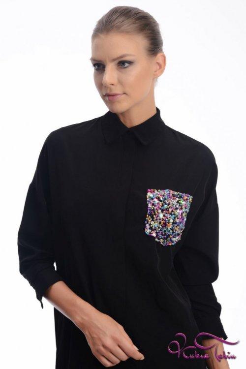 Scarlett Siyah Gömlek