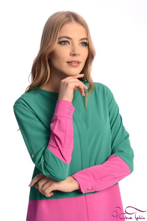 Veronica Yeşil - Pembe Gömlek