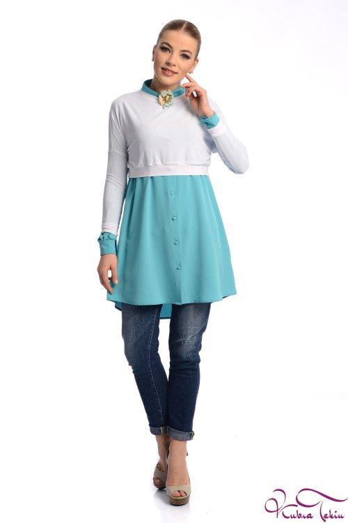Lily Beyaz Mini Bluz