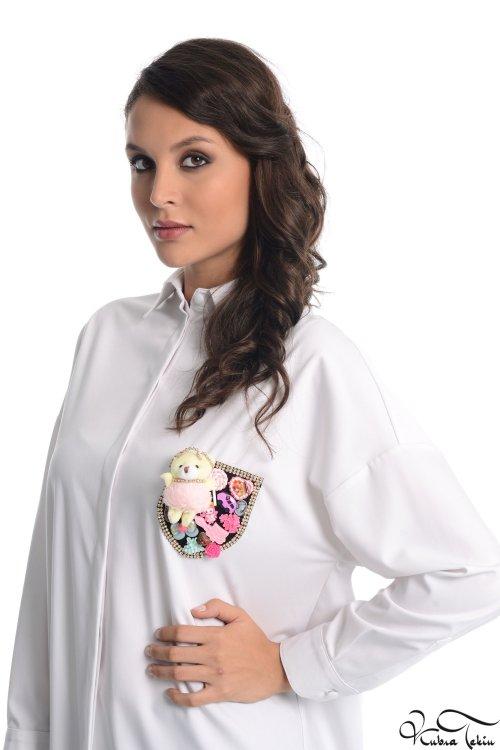 Scarlett Beyaz Oyuncak Gömlek