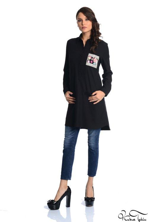 Tiffany Siyah Taşlı Gömlek