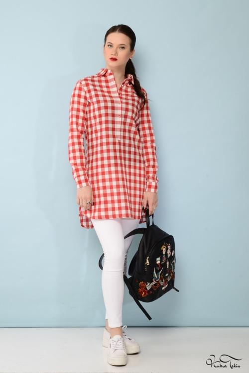 Tiffany Kırmızı Kareli Gömlek