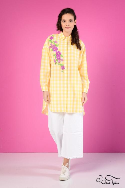 Scarlett Coton Sarı Gömlek