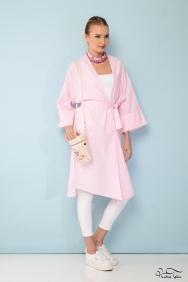 Pembe Çizgili Kimono