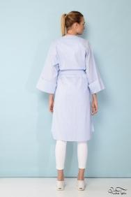 Mavi Çizgili Kimono