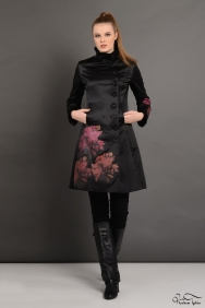 Soley Siyah Rose Trenchcoat