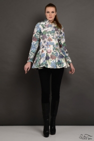 Soley Yeşil Floral Trenchcoat
