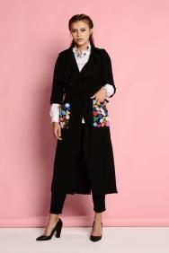 Siyah Renkli Cep Detaylı Trenchcoat