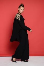Kyla Siyah Sırt Detaylı Ceket