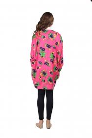 Kyla Pembe Çiçekli Ceket