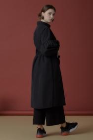 Siyah Klasik Trençkot