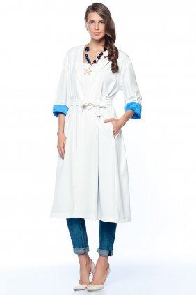 Rania Beyaz Trenchcoat