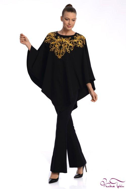 Hanna Siyah Altın Panço