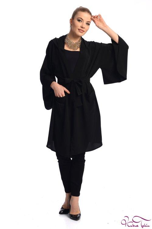 Crystal Siyah Kimono