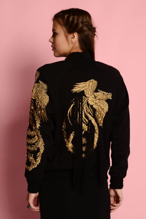 Siyah Bird Ceket