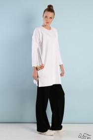 Tania Beyaz Renkli Cep Eşofman Takım