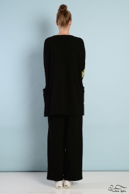 Tania Siyah Kol Detaylı Eşofman Takım