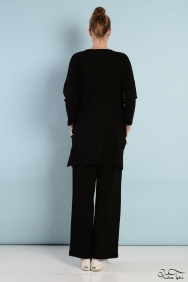 Tania Siyah Gümüş Cep Eşofman Takım