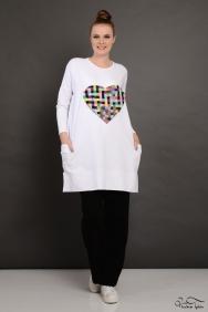 Tania Beyaz Kalp Eşofman Takım