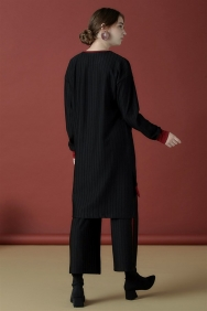 Siyah Kırmızı Triko Takım