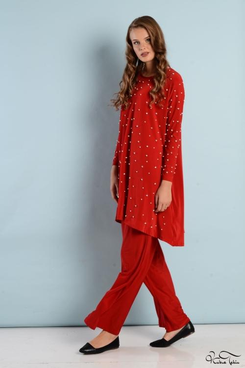 Vania Kırmızı İnci Takım