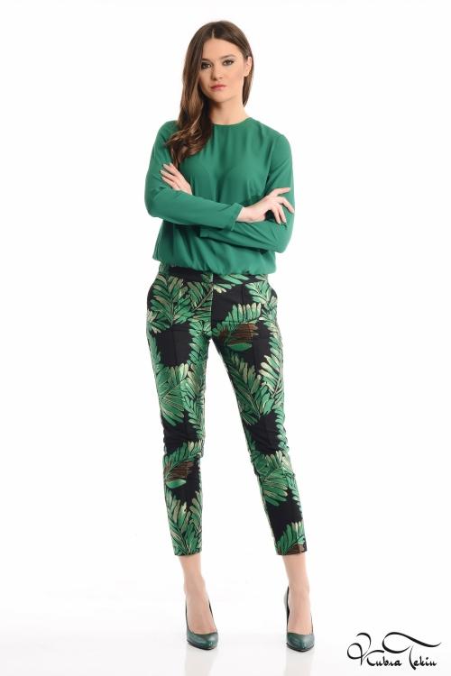 Yeşil Jakar Pantolon